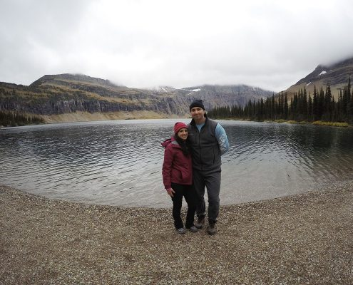 Picture at hidden lake trial