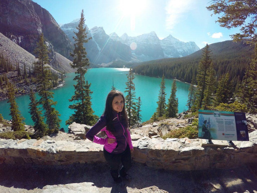 Moraine Lake offers majestic views