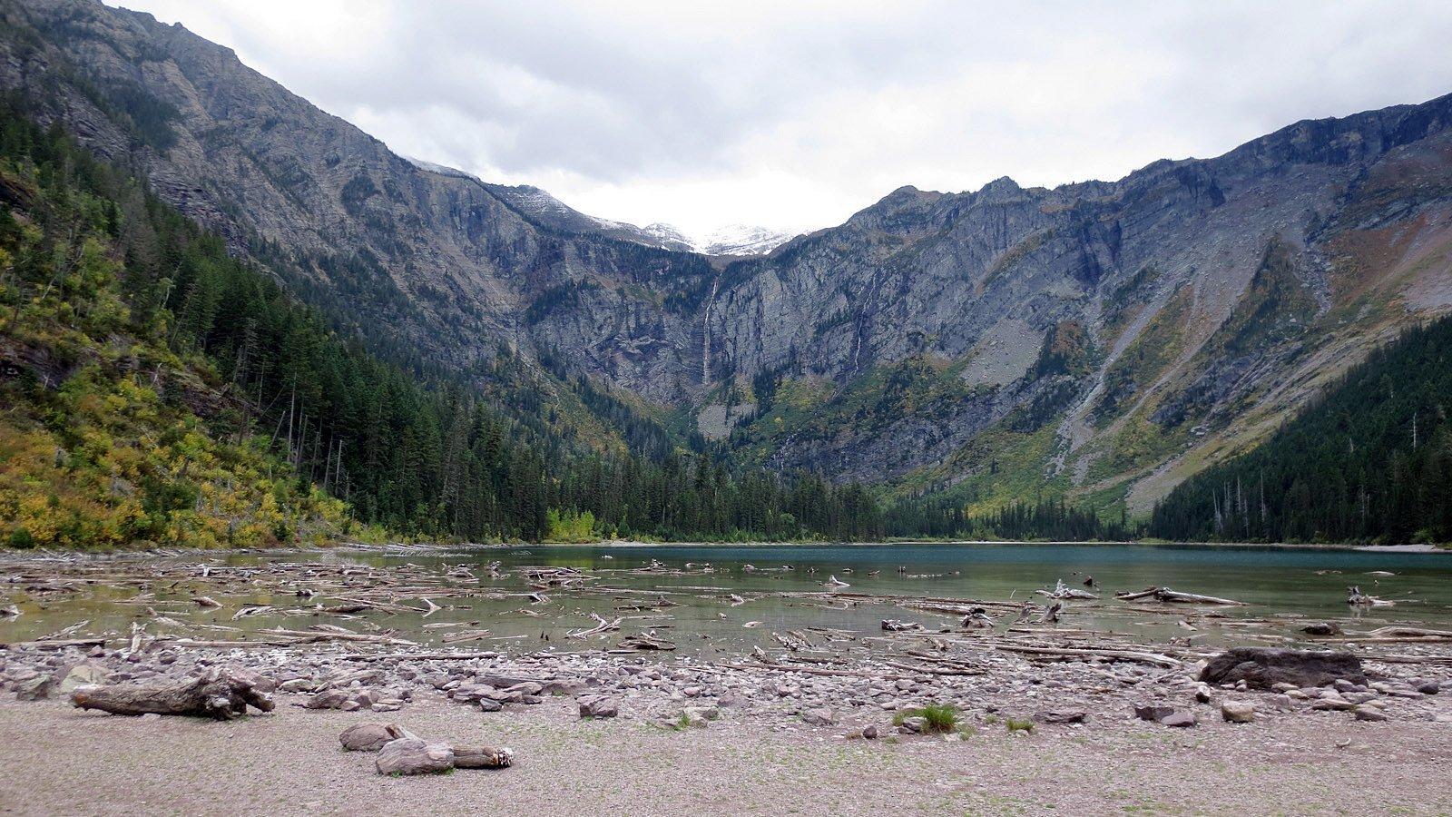 glacier national lake avalanche lake trail