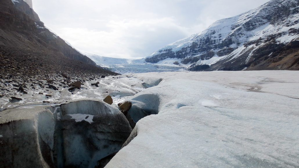 Midway Athabasca Glacier View