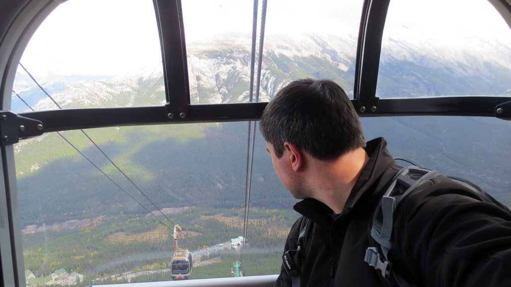 taking the banff gondola ride back down