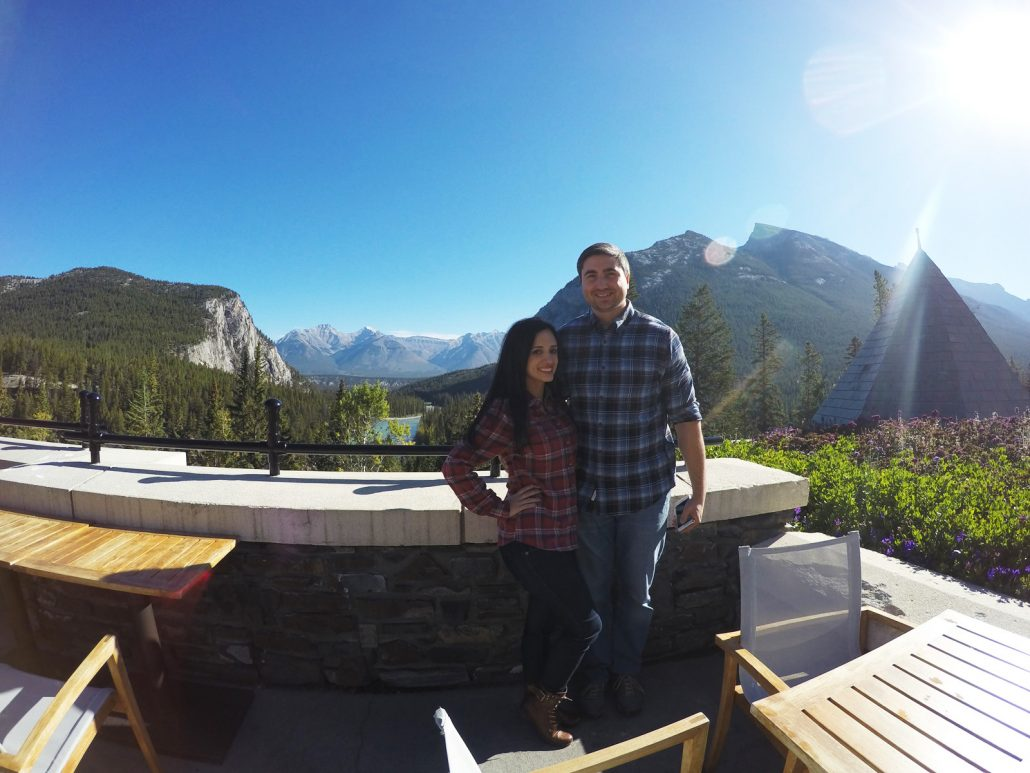 At the Fairmont Banff Springs Hotel.