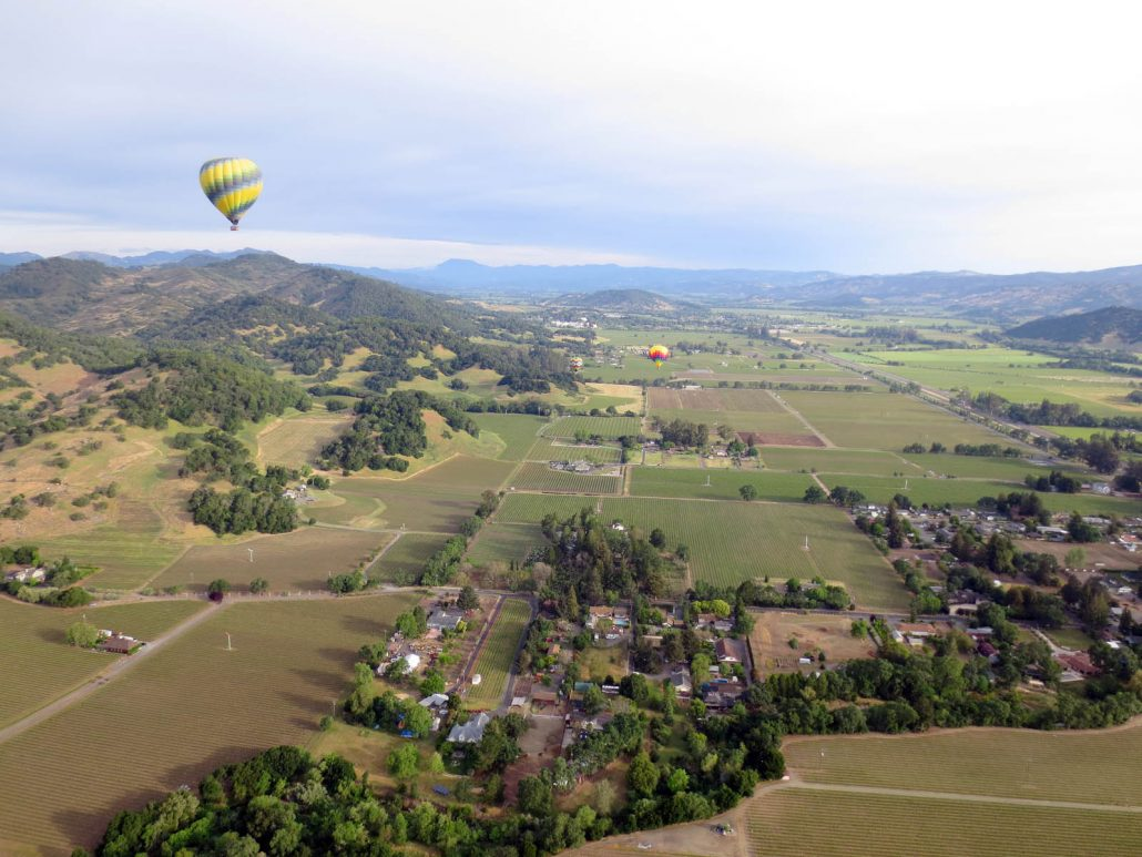 napa valley hot air balloon ride